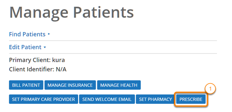 Go to the Prescribe Page