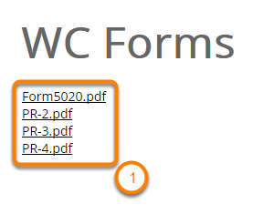 Open the WC Form Templates