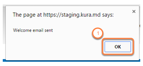 Automated Welcome E-mail message has been sent