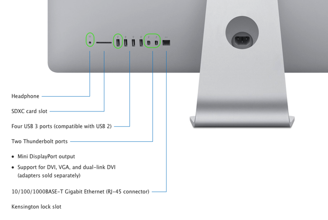 We will discuss each peripheral that should be connected to the ProPresenter iMac's built in ports.