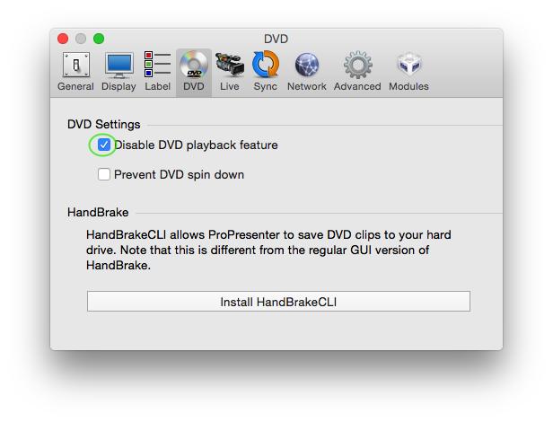 DVD Tab