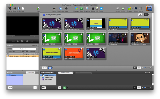 Loading content into ProPresenter