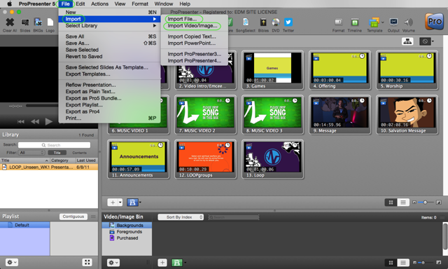 Importing Content into ProPresenter
