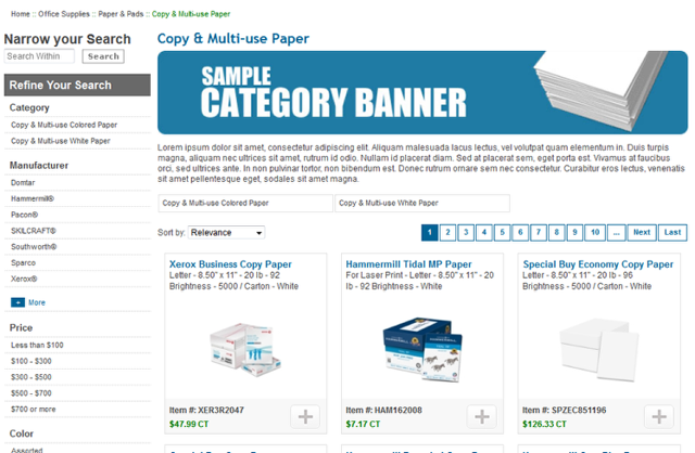 Sample Category Page
