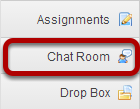 To access this tool, select Chat Room from the Tool Menu in your site.