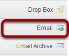 To access this tool, select the Email tool from the Tool Menu of your site.