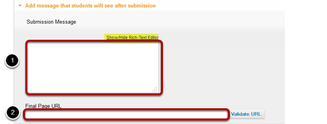 Availability and Submissions: Submission message.