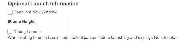 Launch window information. (Optional)