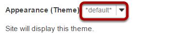 Select a theme.