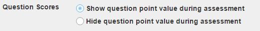 Question Scores