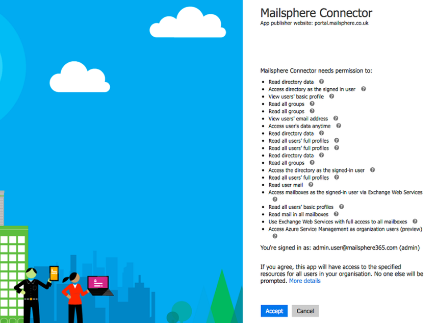 Authorise the Mailsphere Connector