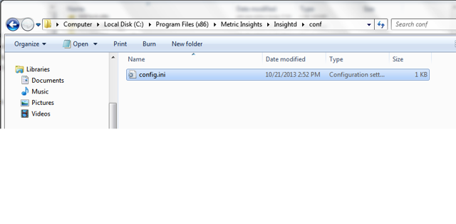 Backup config.ini file