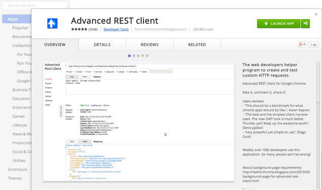Download the Chrome Advance REST Client