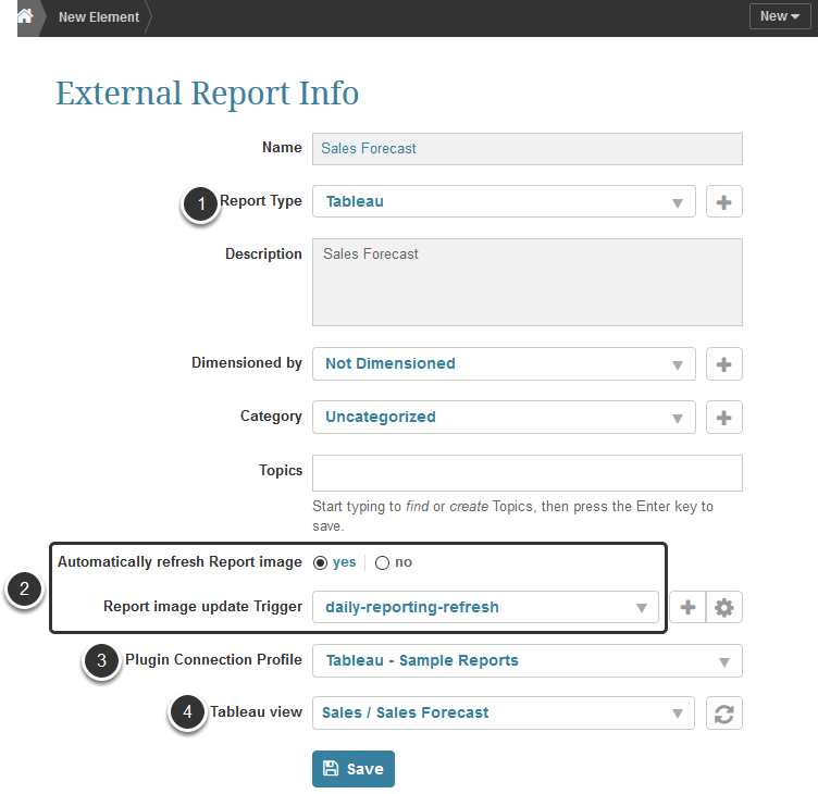 Create an External Report using the Data Source