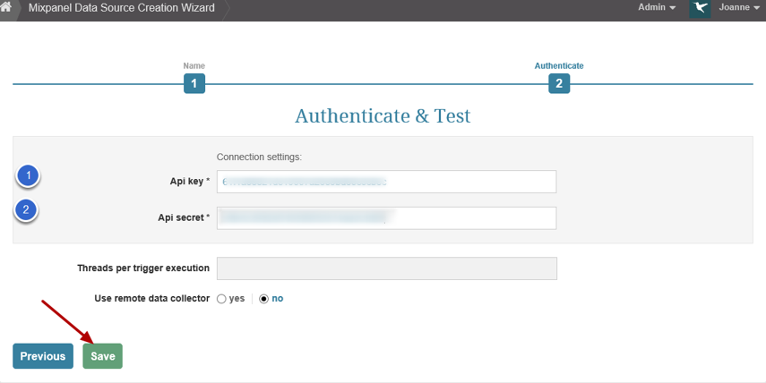 Authenticate and Test