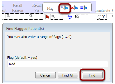 "Or click the find flag tool and enter the flag name (in this example ""Red"")"