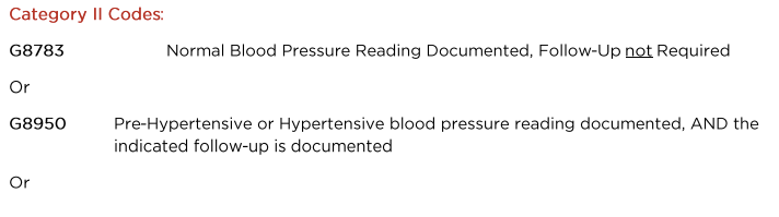 #317 Blood pressure: Screening for High Blood Pressure and Follow Up Documented cross cutting measure (Community/Population Health Group)