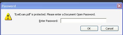 """EyeExam"" PDF is password protected"