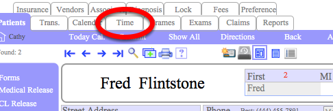 """Or Click """"Time"""""""