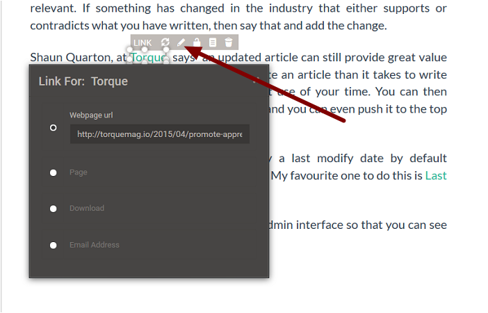 1. Modifying an Existing URL in a Paragraph