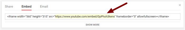 6. Getting the YouTube URL