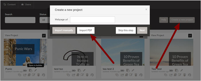 1. Create a New Project