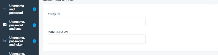 Entity ID & POST SSO settings