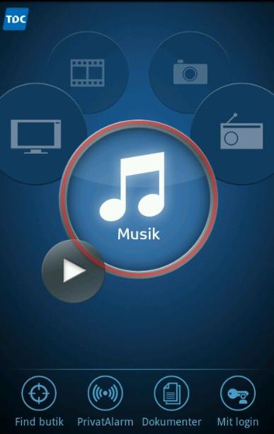 """Klik nu på: """"Musik"""""""