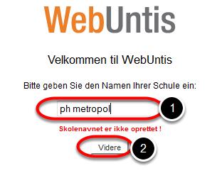 Gå til webadressen: www.webuntis.dk eller fra IntraPol > Værktøjer > Bygninger > Book lokale (WebUntis)