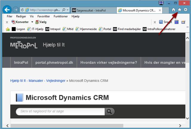 Start en browser og gå til http://screensteps.phmetropol.dk/m/29013