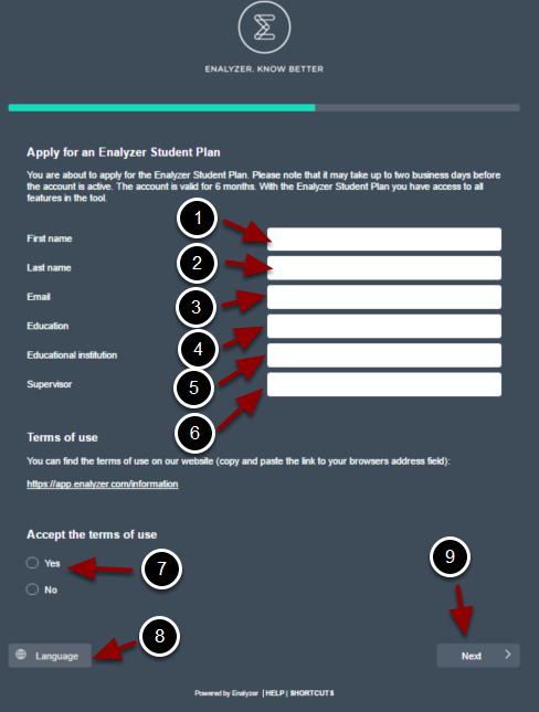 Trin 3: Udfyld den elektroniske formular