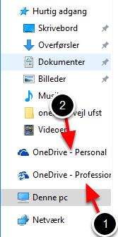 Nu kan du se to OneDrive-mapper i Stifinder i stedet for en enkelt