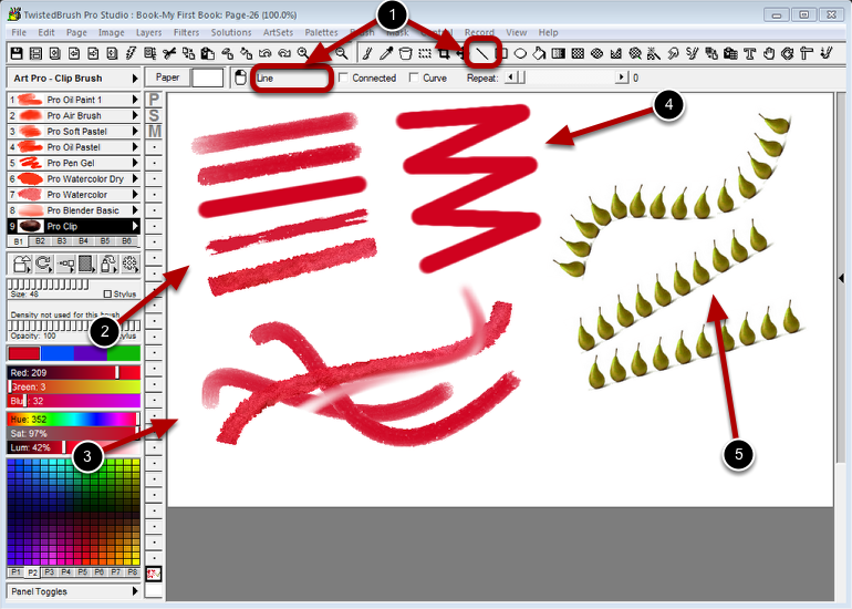 Using the Line tool