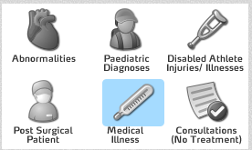 The OSICS Medical Diagram Codes were not available. These are now available to select from. Each Code also has a description of what type of diagnosis you can select (e.g. Abnormalities)