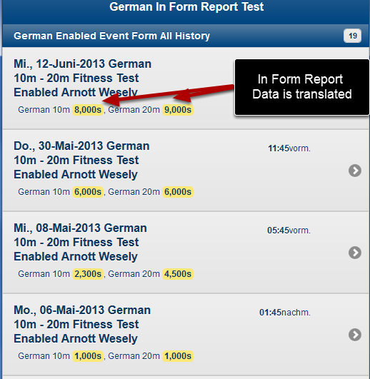 In Form Report Data will also be Translated if the fields they link to have been translated