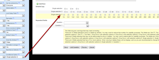 You can also set up Conditional Options for single selection fields