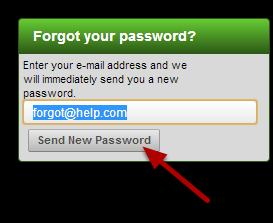 If an athlete or coach forgets their password, they can type in the e-mail address to be sent a new password