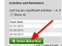"The ""Add Row"" button for a Table was appearing as ""Define Table Matrix"". This has been resolved and is named correctly"