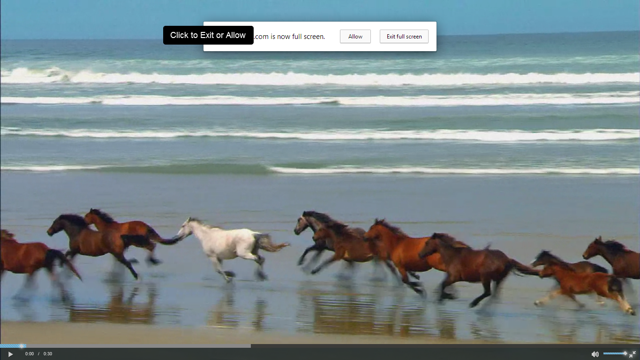 Example of full screen