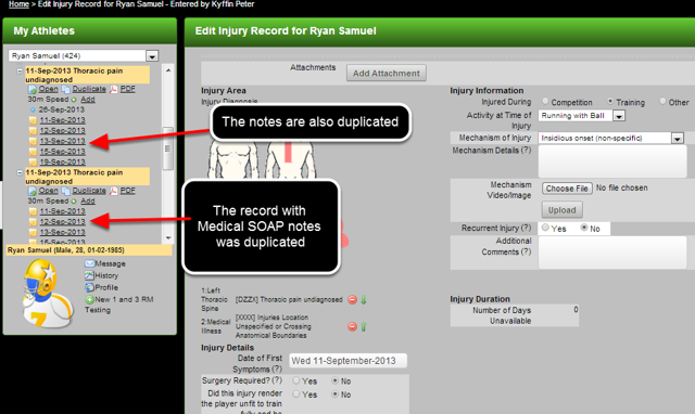 N.B. Be VERY careful not to duplicate forms with locked rows (e.g. in Medical Records), as the data cannot be deleted