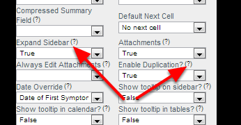 """If a Form was set to """"Expand Sidebar"""" AND """"Enable Duplication"""" you can duplicate a record from the sidebar"""