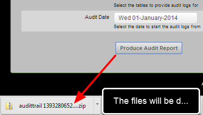 The information will be downloaded as a .csv file, or a .zip file containing multiple .csv files