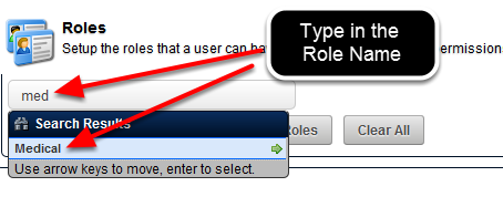 Now Add in the Roles. Remember, ALL users in this Role cannot have their account details edited by a Coach Admin