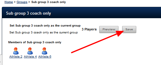 If this user loads a subgroup that they access to as a coach they can view all athletes in that group