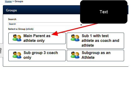 On the application, when this user changes Group they can only load groups they are in as an athlete individually, not from the parent group