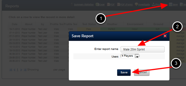 Once you create your report, Save it for when you need to view it again.