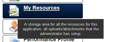 The My Resources Module is used to store shared documents.