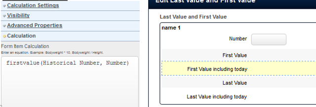 Firstvalue historical calculation that includes today's data