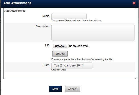 If your Event Form is set up to treat Attachments only as Attachments (not Attachments as Resources), it will look this