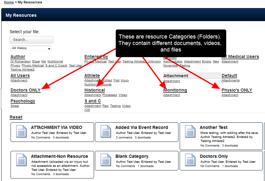 What is a Category? A Category is a Pre Set Folder that Resources and Attachment-Resources can be stored in.